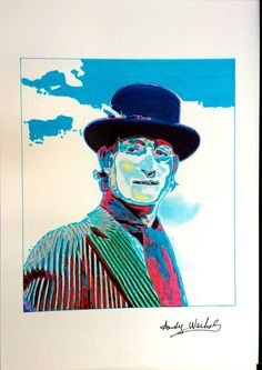Andy Warhol - Ink drawing - John LennonMore Pins Like This At FOSTERGINGER @ Pinterest