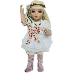 89.50$  Buy here - http://alir1f.worldwells.pw/go.php?t=32598825159 - Sweet Cartoon Girl Doll with Clothes 18inch SD/BJD Ball Jointed Dolly Cream Long Hair for Kids Playhouse Toys Gift