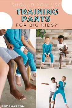 Potty training toddlers is no joke, but the transition from overnight diapers to pajamas for big kids is just as hard! Disposable overnight pants are expensice and fill up our landfills. Peejamas reusable cloth training pants are the perfect solution. Head over to the blog to find out if you should be using overnight training pants for big kids! #pottytrainingboys #bedwetting #