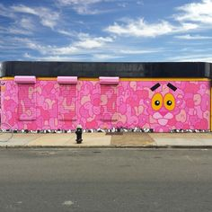 Pink Panther up at the Bushwick Collective - Brooklyn