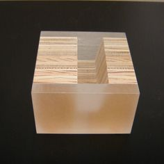 Modern Portrait Business Card Holder in Recycled Plywood and