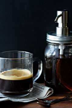 Homemade Vanilla Coffee Syrup Picture | My Baking Addiction