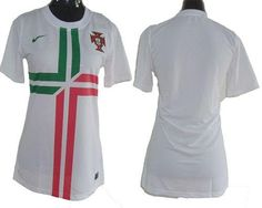 Portugal Blank White Away Women Soccer Country Jersey 515df87fd75