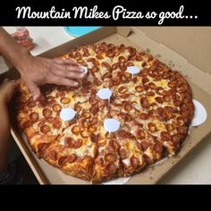 So good, nom..nom..nom! Mountain Mike's Pizza Rancho Cucamonga