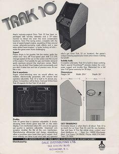 Atari Trak 10 Arcade Game Flyer - (1974) - #arcade #retrogaming #oldschool #flyers