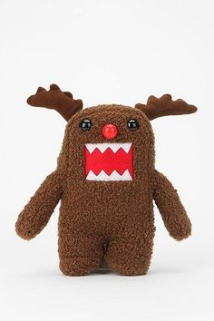 Domo-Kun Plush Figure, Rudolph the Red Nosed Reindeer.