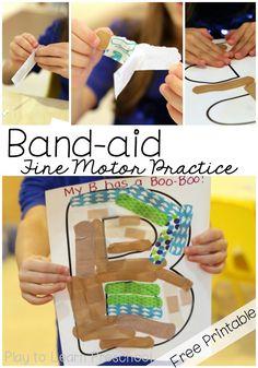 Band Aid fine motor
