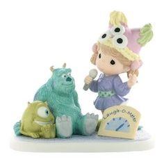 """Precious Moments Disney Collection """"Laughter Gives Friends The Power To Share"""" Figurine"""