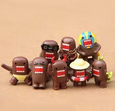 8X Domo Kun Figures Set S Brown Monster Doll Mini Garden Decoration jp Anime New