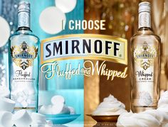Smirnoff Fluffed Marshmallow & Whipped Cream Flavored Vodka Recipes, I think YES! Cocktail Drinks, Fun Drinks, Yummy Drinks, Alcoholic Drinks, Cocktail Ideas, Beverages, Smirnoff Flavors, Marshmallow Vodka, Whipped Cream Vodka