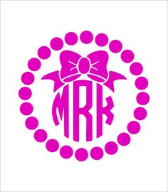Crafts Monogram On Pinterest Monograms Vinyl Monogram