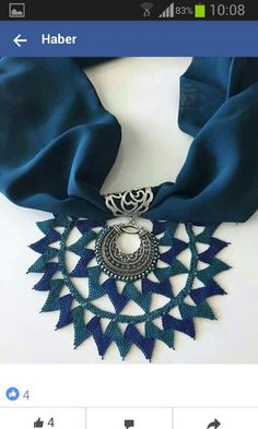 Needle lace necklaces Ki You are in the right place about crochet braid styles Here we offer you the most beautiful pictures about the crochet. Crochet Motif, Crochet Stitches, Crochet Patterns, Needle Lace, Needle And Thread, Fabric Manipulation Techniques, Crochet Braid Styles, Lace Necklace, Point Lace