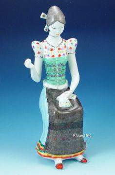 Hollohaza Seamtress In Folk Costume Folk Costume, Costumes, Hetalia, Hungary, Budapest, Elf, Disney Characters, Fictional Characters, Porcelain