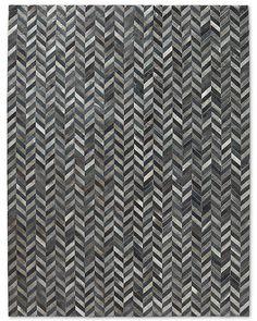 HIDES TRENDS PAGE: Chevron Cowhide Rug - Blue Grey