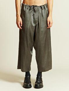 Yohji Yamamoto Men's Silk Trousers | LN-CC