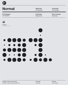 Normal Font. By Frank Vogt for Fontwerp typefoundry