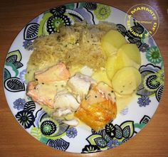 Choucroute de la mer l�g�re WW (Thermomix) Plus Plats Weight Watchers, Weigh Watchers, Cooking Chef, Pesto, Potato Salad, Chicken, Breakfast, Ethnic Recipes, Desserts