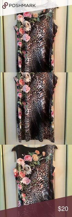 Yang zi gang brand Black Floral Dress size XL Yang zi gang brand Black pink floral dress size XL yang Zi Gang  Dresses Mini