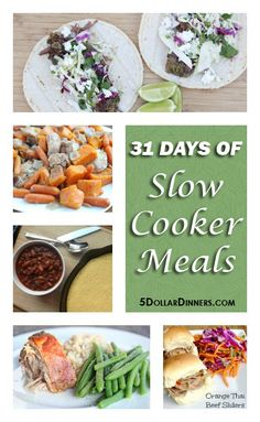 31 Days of Slow Cooker Meals