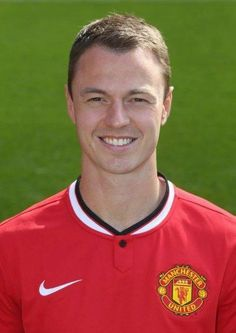 Jonny Evans of Manchester United poses during the annual club photocall at Old Trafford on September 16 2014 in Manchester England Manchester United 2014, Manchester England, Manchester United Football, Man Utd Squad, Man Utd Fc, Old Trafford, Jonny Evans, Sharon Jones, Premier League Champions