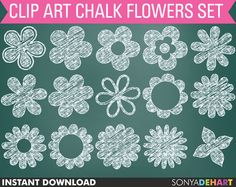 chalkboard art flowers - Google Search