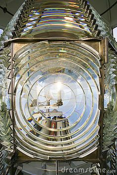 Fresnel Magnifying Lens Close Up Lighthouse Glass Rotating by Chris Boswell, via Dreamstime