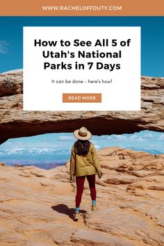 Rachel Off Duty: A Utah National Parks Road Trip in 7 Days National Park Pass, Capitol Reef National Park, National Parks, Visit Utah, Canyonlands National Park, Go Hiking, Road Trip Usa, Plan Your Trip, State Parks