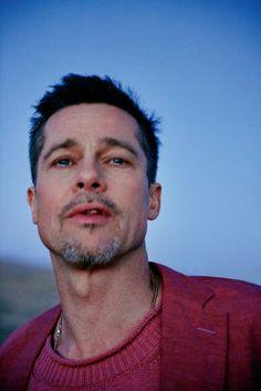 Brad Pitt shot by Ryan McGuinley for GQ