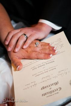 Cute wedding pic of marriage license