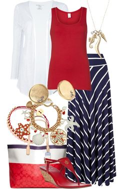 A fashion look from March 2013 featuring Majestic Filatures cardigans, VILA tops and Tory Burch sandals. Browse and shop related looks. Maxi Skirt Outfits, Striped Maxi Skirts, Modest Outfits, Modest Fashion, Casual Outfits, Fashion Outfits, Womens Fashion, Spring Summer Fashion, Spring Outfits