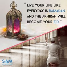 Live your life like everyday is ramadan and the Akhirah will become your eid #islam #muslim #samtravel #hajj #umrah