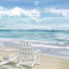 Canvas Art Prints, Canvas Wall Art, Framed Canvas, Framed Prints, Beach Illustration, The Masterpiece, Seascape Paintings, Beach Chairs, Beach Art
