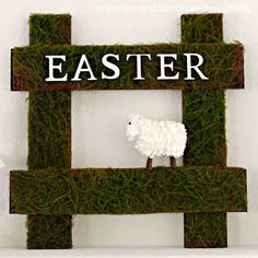 Sheep Easter Sign