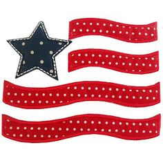 Whimsical Flag Applique