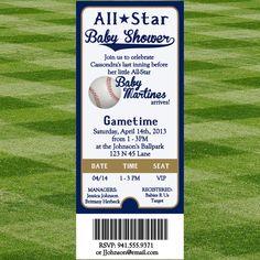 Baseball Baby Shower Invitation by SewInLoveBlogShop on ETSY