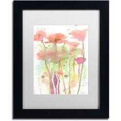 Trademark Fine Art Red Poppy Impressions Canvas Art by Sheila Golden White Matte, Black Frame, Size: 11 x 14, Multicolor