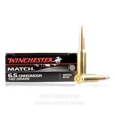 Winchester 6.5 Creedmoor Ammo - 20 Rounds of 140 Grain HPBT Ammunition