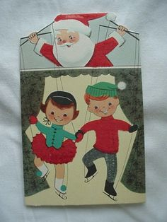 Christmas Card Lot of 2 Boy With Toys And Santa With Kids As from alwayslookin on Ruby Lane