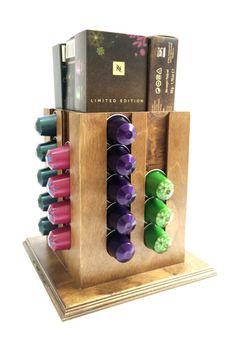 HOLDER STAND for 40 Nespresso Capsules coffee by WoodNcoffee