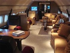 Boeing Business Jet cabin interior #luxuryprivatejet