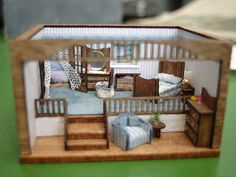 144th scale Seaside Room Box by shinynewthing, via Flickr