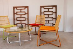 A nice combination of Rattan Furniture and Colorful Decoration #rattan #livingroom #design #interiorstyle