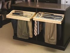 Closet & Carpentry Designs. Closet Accessories. Pant & Tie Ranks. >Keeps pants wonderfully, wrinkle free and could even be used as a drying tool.