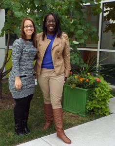 October 2014. Carmencita and Kathy, APM CUA Community Liaisons, stopped by to tour our site and share information. Thanks for a great visit!