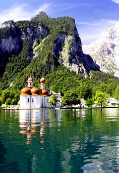 St. Bartholoma - Lake Konigssee, Germany Germany Area, Bavaria Germany, Places To Travel, Places To See, Beau Site, Countries Of The World, Germany Travel, Where To Go, Beautiful Landscapes