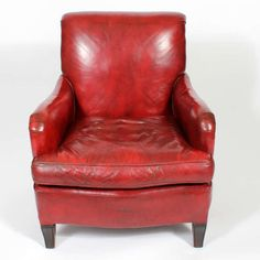 Comfy Vintage Red Leather Club Or Armchair Nice Look