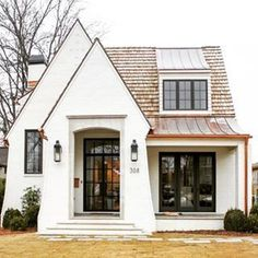 Small is in. The small house design requires more creativity to provide everything you want in a smaller space. Good design can work wonders. I want to introduce one aspect of good design and outline why it's a must when… Continue Reading → Interior Exterior, Exterior Design, White Exterior Houses, White Houses, Interior Design Trends, Design Ideas, Group Home, House Of Beauty, Small House Design
