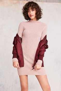 Kimchi Blue Ellie Chenille Mock Neck Mini Dress - Urban Outfitters