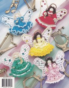 Clothespin Angels Annie's Attic Crochet Pattern by LucyGooseyDolls Form Crochet, Crochet Toys, Crochet Patterns, Merry Christmas, Christmas Angels, Crochet Christmas Ornaments, Christmas Crafts, Crochet Angels, Angel Crafts