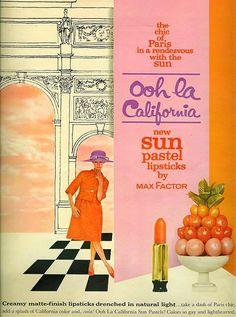 Ooh la California -- Lipsticks Part One    From Seventeen, March 1962